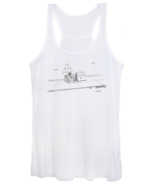 A Strong Man With A Tattoo Of An Anchor Women's Tank Top