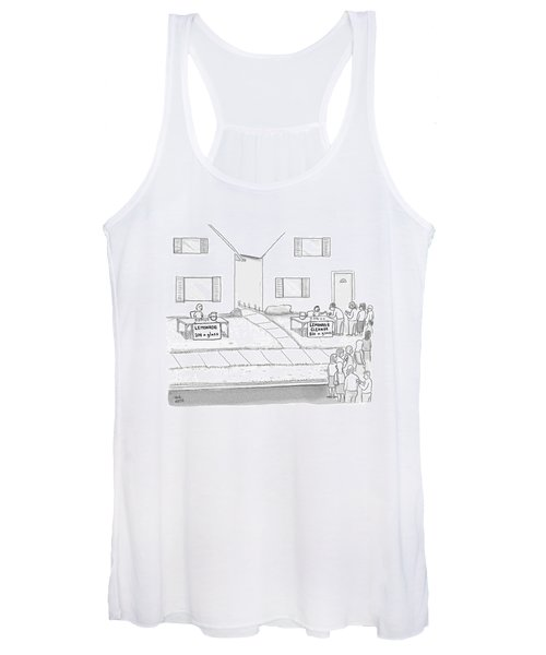 A Suburban Lemonade Stand Attracts No Business Women's Tank Top