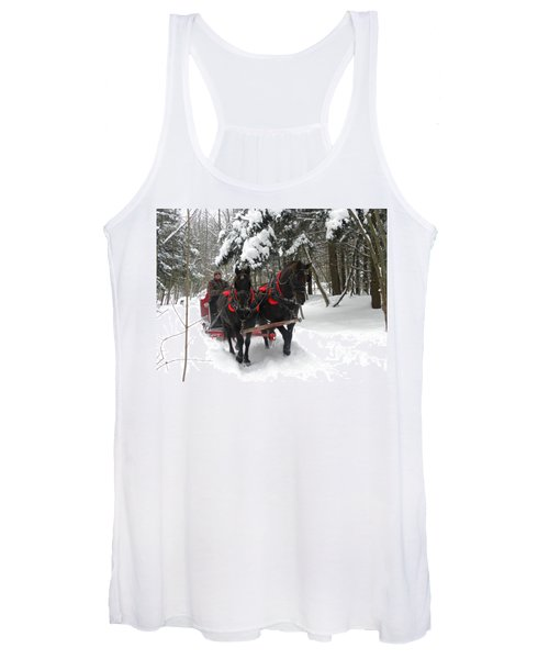 A Wonderful Day For A Sleigh Ride Women's Tank Top