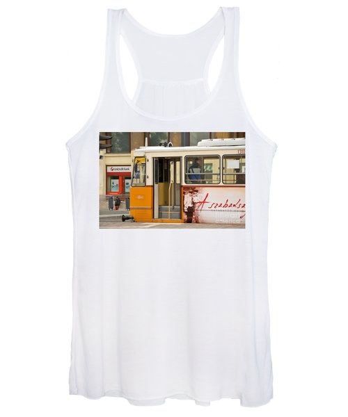 A Yellow Tram On The Streets Of Budapest Hungary Women's Tank Top
