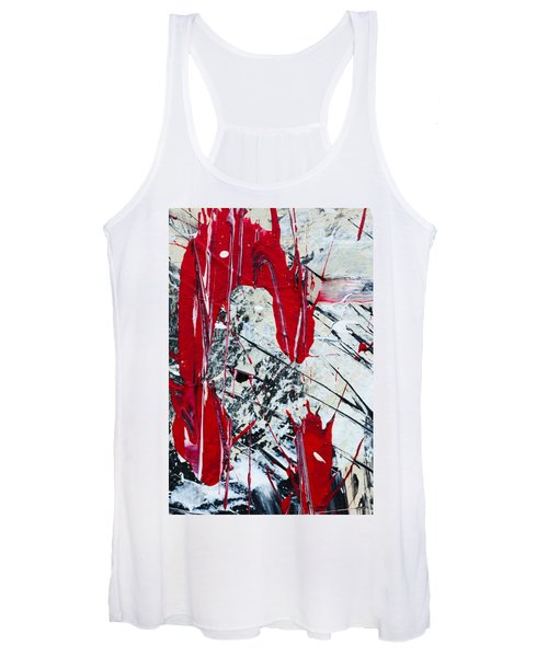 Abstract Original Painting Untitled Nine Women's Tank Top
