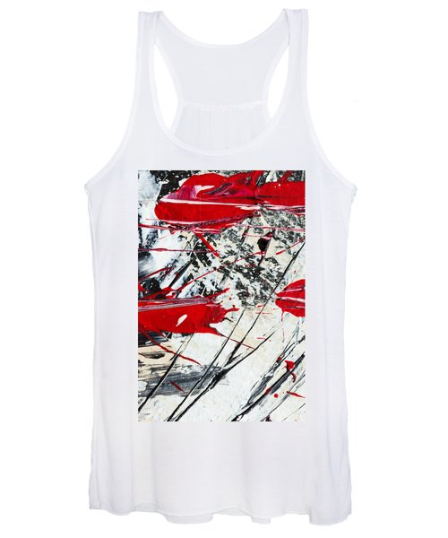 Abstract Original Painting Untitled Ten Women's Tank Top