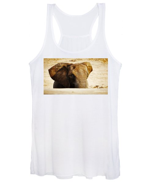 African Elephant Behind A Hill Women's Tank Top