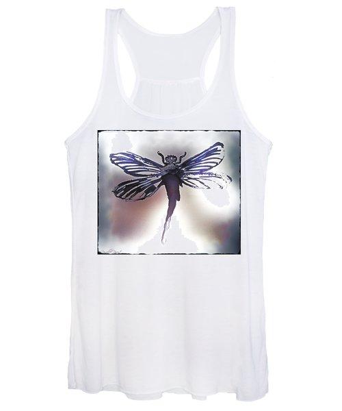 Alcohol Inks Purple Dragonfly Women's Tank Top