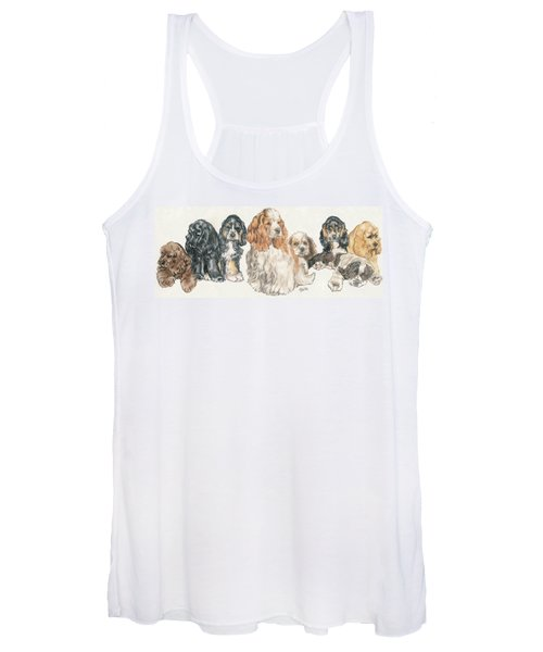American Cocker Spaniel Puppies Women's Tank Top