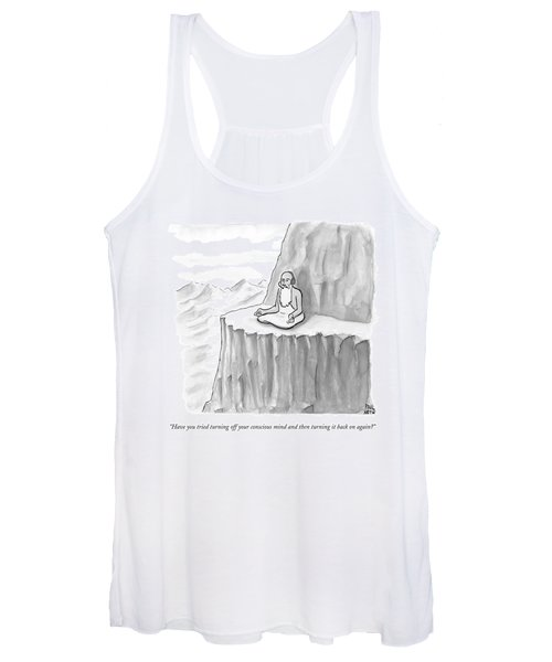 An Old Man Gives Metaphysical Advice Women's Tank Top