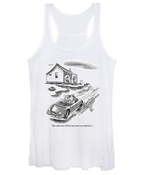 An Old Married Couple Sitting On Their Porch Women's Tank Top