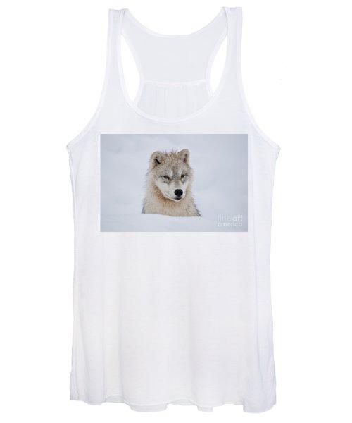 Arctic Pup In Snow Women's Tank Top