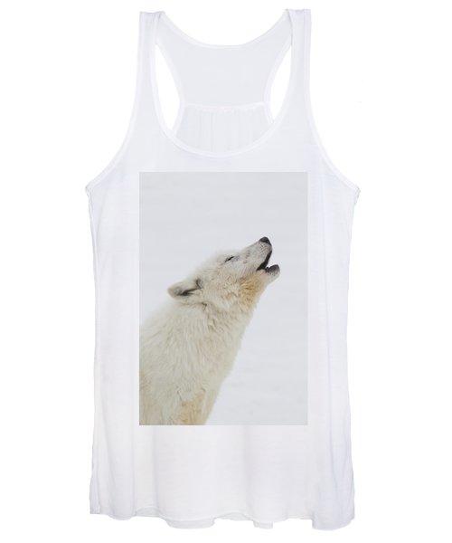 Arctic Wolf Howling Women's Tank Top