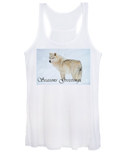 Arctic Wolf Season Greetings Card 9 Women's Tank Top