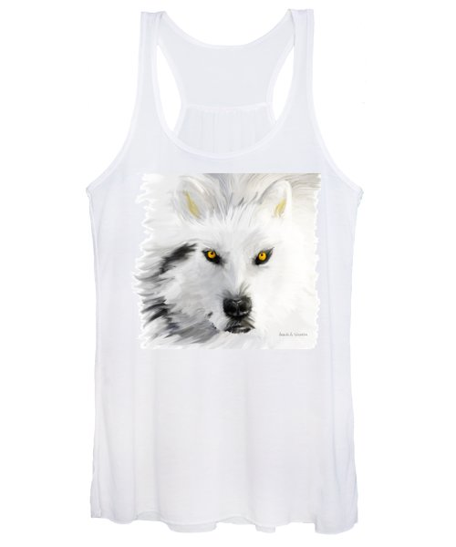 Arctic Wolf With Yellow Eyes Women's Tank Top