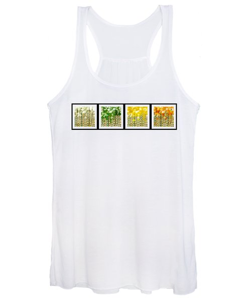Aspen Colorado Abstract Horizontal 4 In 1 Collection Women's Tank Top