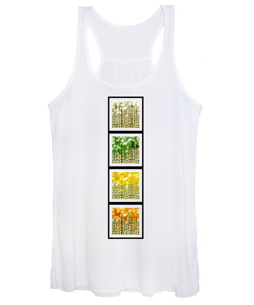 Aspen Colorado Abstract Vertical 4 In 1 Collection Women's Tank Top