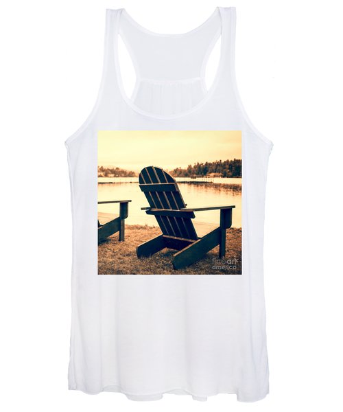 At The Lake Square Format Women's Tank Top