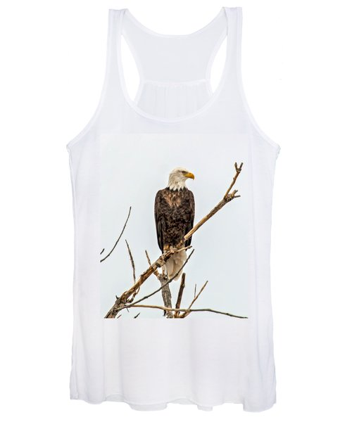 Bald Eagle On A Branch Women's Tank Top