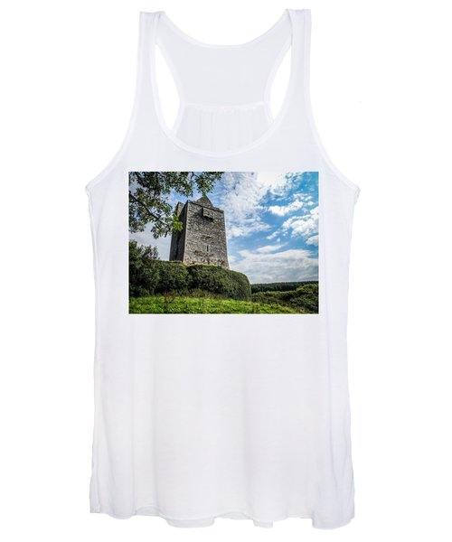 Ballinalacken Castle In Ireland's County Clare Women's Tank Top