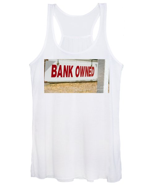 Bank Owned Real Estate Sign Women's Tank Top