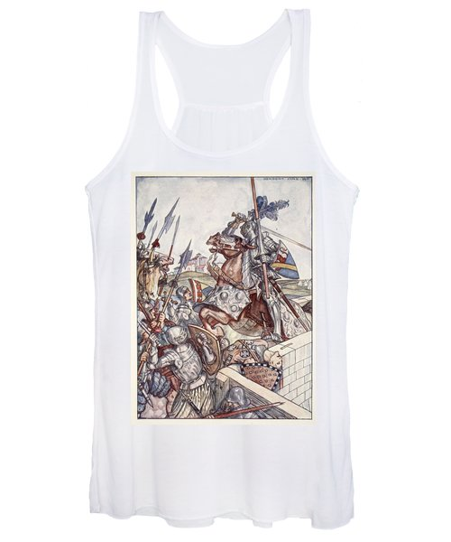 Bayard Defends The Bridge, Illustration Women's Tank Top