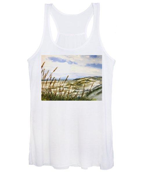 Beach Watercolor 3-19-12 Julianne Felton Women's Tank Top