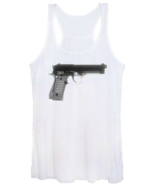 Beretta 9mm X-ray Photograph Women's Tank Top
