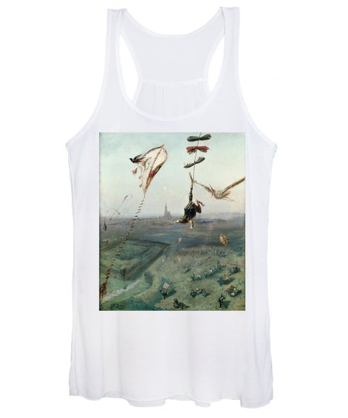 Between Heaven And Earth, 1862 Oil On Canvas Women's Tank Top