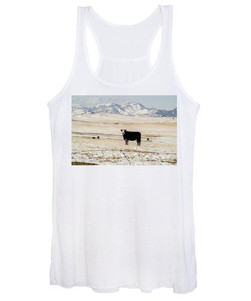 Black Baldy Cows Women's Tank Top