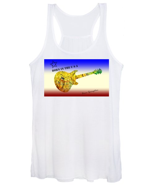 Born In The U S A Bruce Springsteen Women's Tank Top