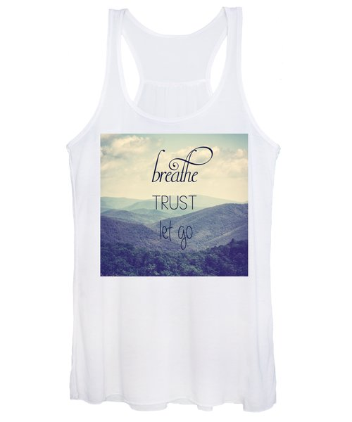Breathe Trust Let Go Women's Tank Top