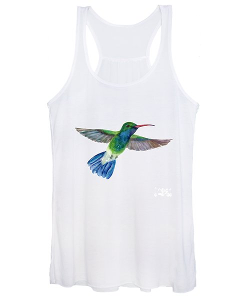 Broadbilled Fan Tail Hummingbird Women's Tank Top