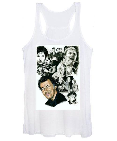 Bruce Springsteen Through The Years Women's Tank Top