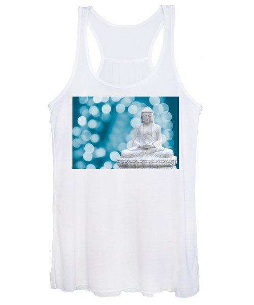 Buddha Enlightenment Blue Women's Tank Top