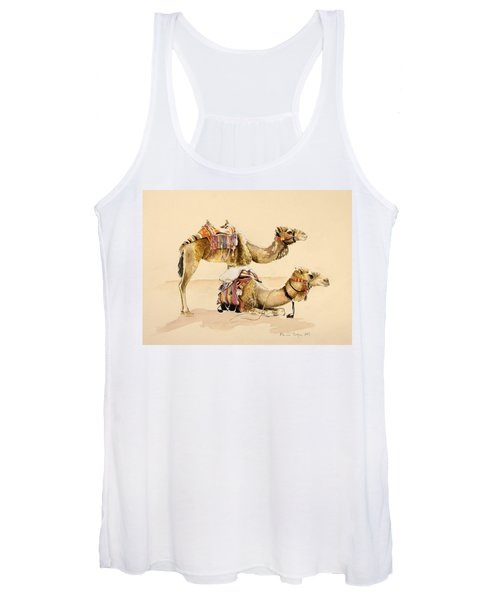 Camels From Petra Women's Tank Top