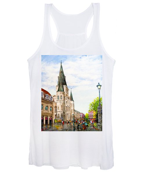 Cathedral Plaza - Jackson Square, French Quarter Women's Tank Top