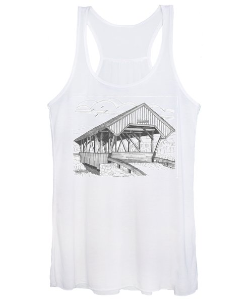 Chamberin Mill Covered Bridge Women's Tank Top