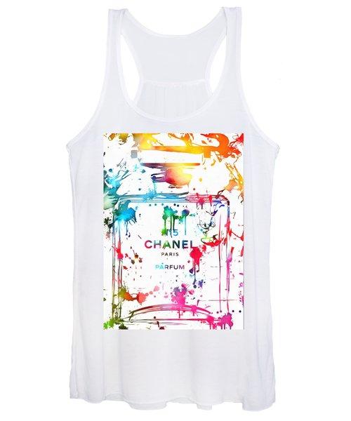 Chanel Number Five Paint Splatter Women's Tank Top