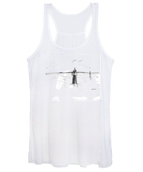 Channel Markers Ocracoke Inlet Women's Tank Top