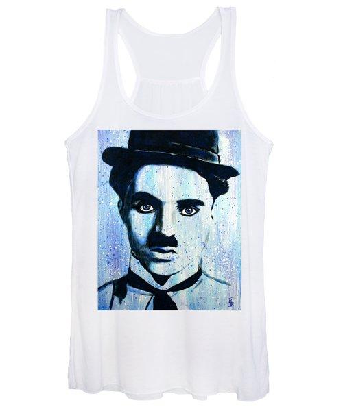 Charlie Chaplin Little Tramp Portrait Women's Tank Top