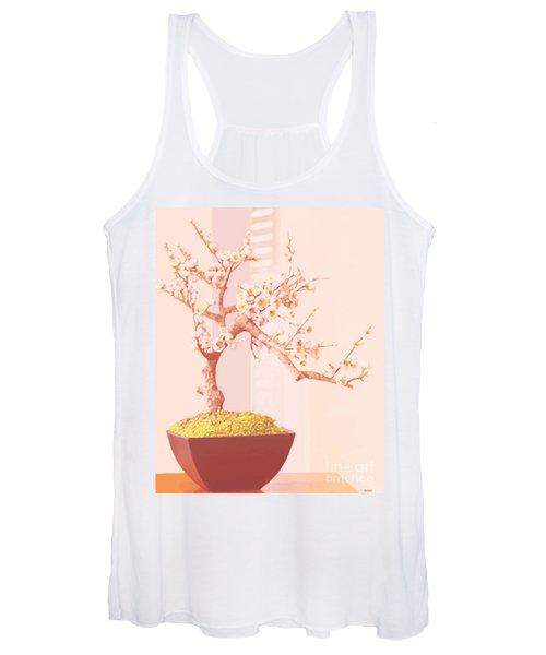 Cherry Bonsai Tree Women's Tank Top