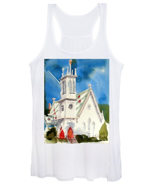 Church With Jet Contrail Women's Tank Top