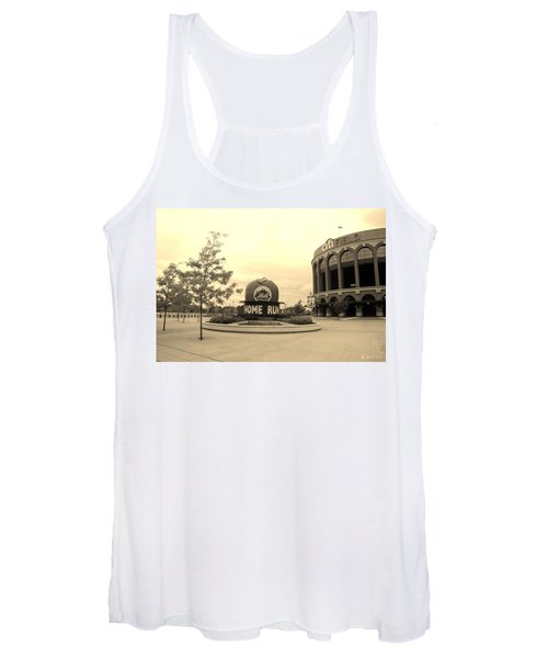 Citi Field In Sepia Women's Tank Top
