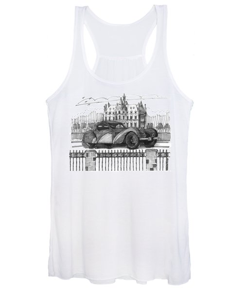 Classic Auto With Chateau Women's Tank Top