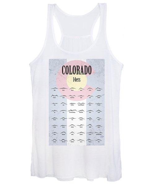 Colorado 14ers Poster Women's Tank Top