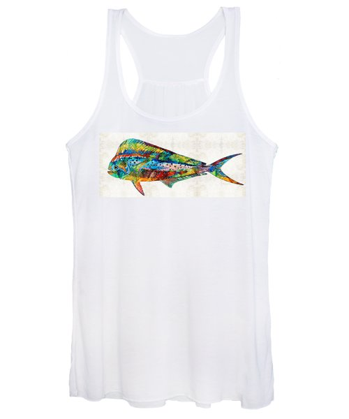 Colorful Dolphin Fish By Sharon Cummings Women's Tank Top