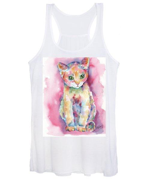 Colorful Kitten Women's Tank Top