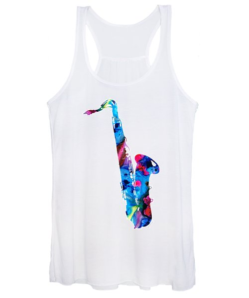 Colorful Saxophone 2 By Sharon Cummings Women's Tank Top