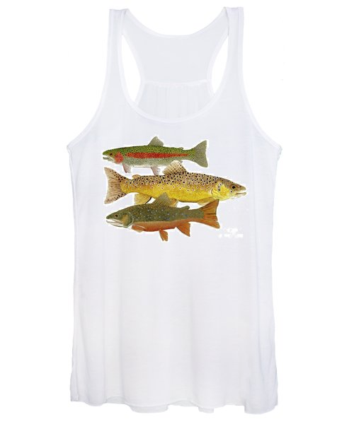Common Trout  Rainbow Brown And Brook Women's Tank Top