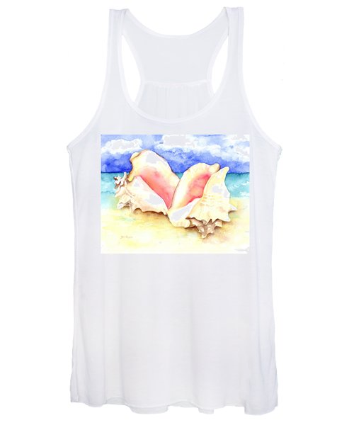 Conch Shells On Beach Women's Tank Top