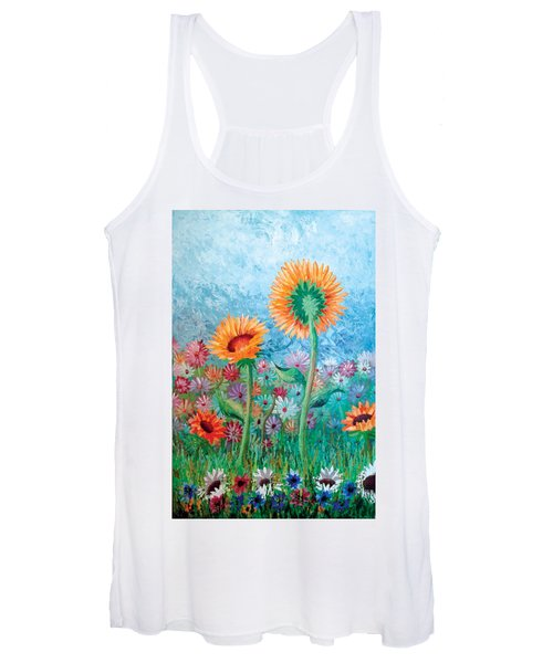 Courting Sunflowers Women's Tank Top