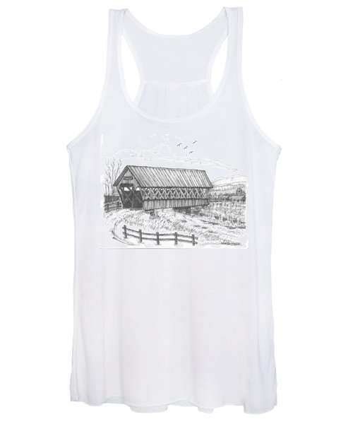 Covered Bridge Coventry Vermont Women's Tank Top