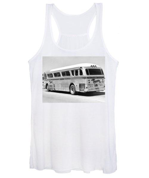 Dachshound Charter Bus Line Women's Tank Top